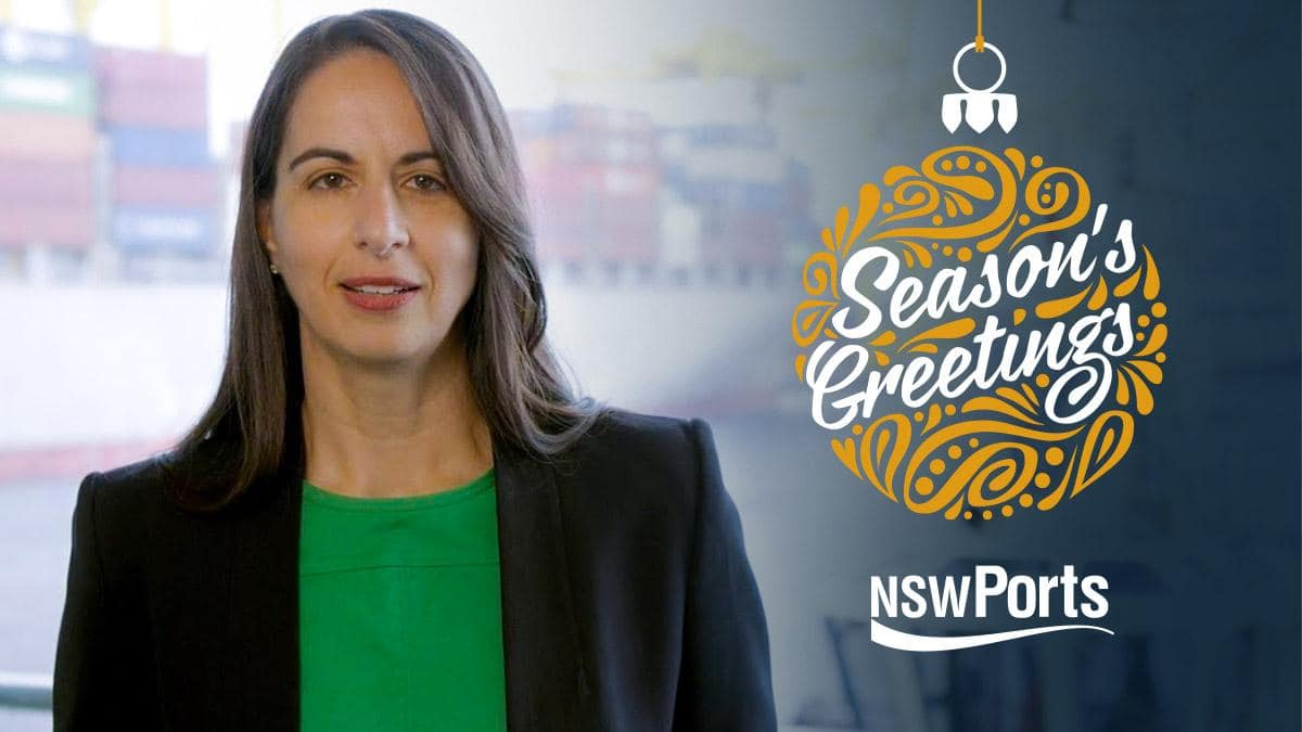 NSW Ports CEO End of Year Video Message